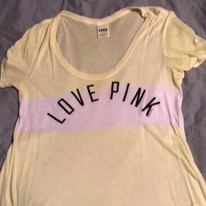 """Victoria's Secret """"love pink"""" tee"""